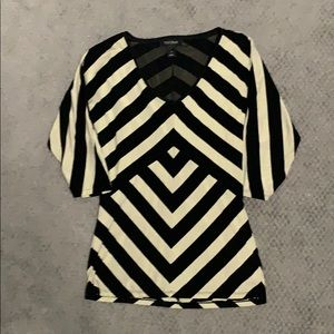 White House Black Market Gold & Black Top